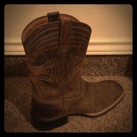 522e3c80e4a Ariat men sport wide square toe western boots